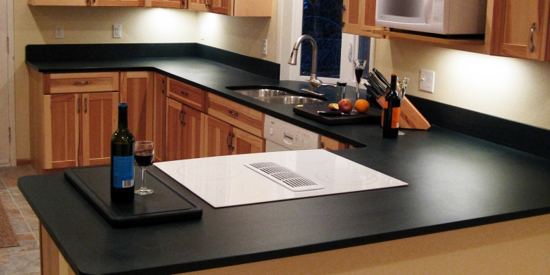 PaperStone Kitchen Countertop in Color Slate