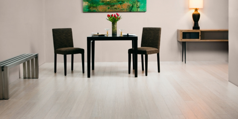 Plyboo Stiletto Flooring, Brushed Pearl