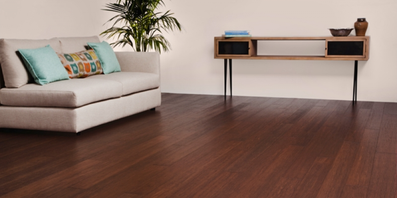 Plyboo Stiletto Bamboo Flooring in Brushed Barnwood