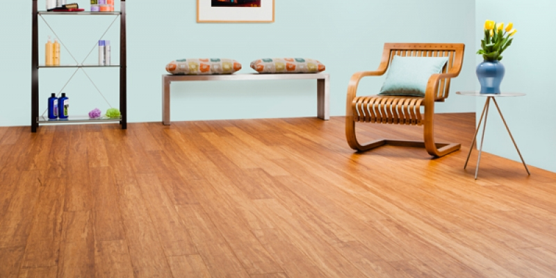 Plyboo Stiletto Flooring, Brushed Amber