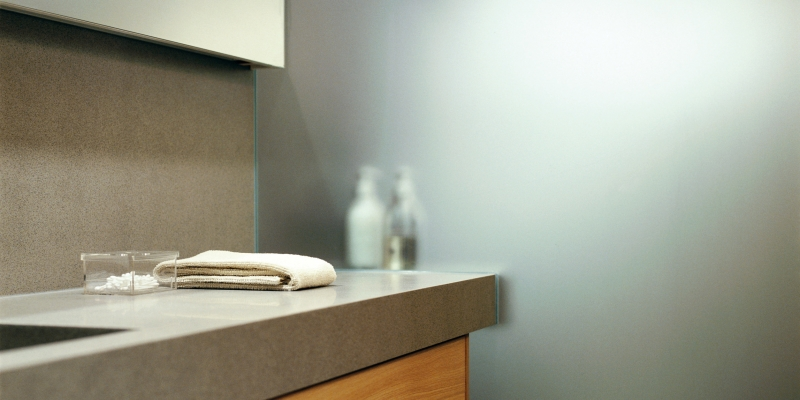 Durat Bathroom Countertop and Backsplash