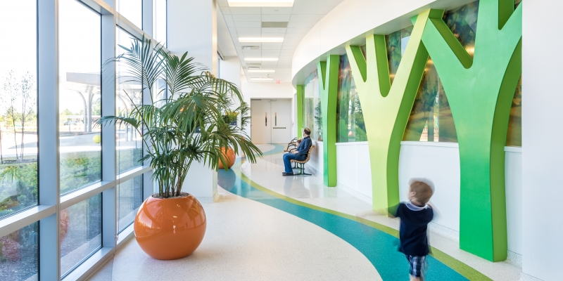 Durat Trees in Texas Children's Hospital, Colors 800 and 810