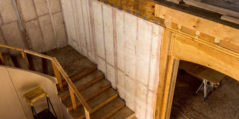 Havelock Wool Loose-Fill Insulation, Residential Stairways