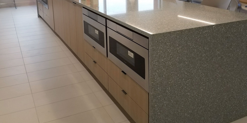IceStone Kitchen Countertop in Pearl Grey