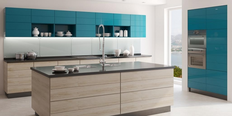 QuartzStone residential kitchen island and countertop in Dusk