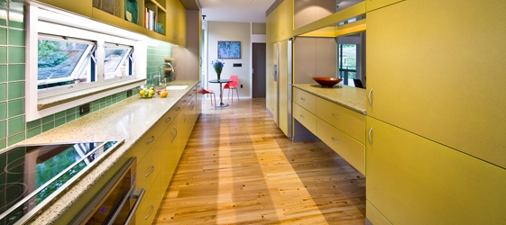 Meld ecoX Countertop, Natural Tri-Color, Rainshine House, Photo by Paul Hultberg
