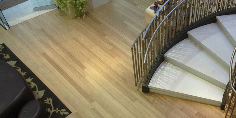Plyboo Bamboo Flooring in Amber Edge Grain