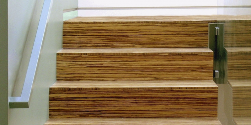 Plyboo Stair Treads and Risers in Neopolitan