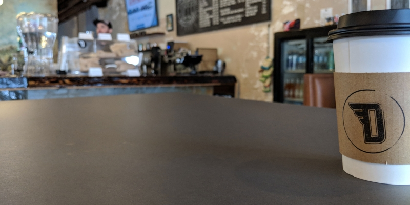 Coffee Shop PaperStone Countertop in Color Charcoal
