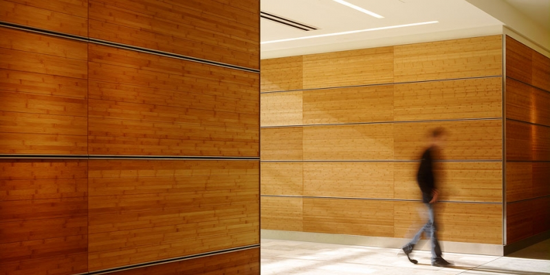 Plyboo Wall Panels in Amber Flat Grain Plywood