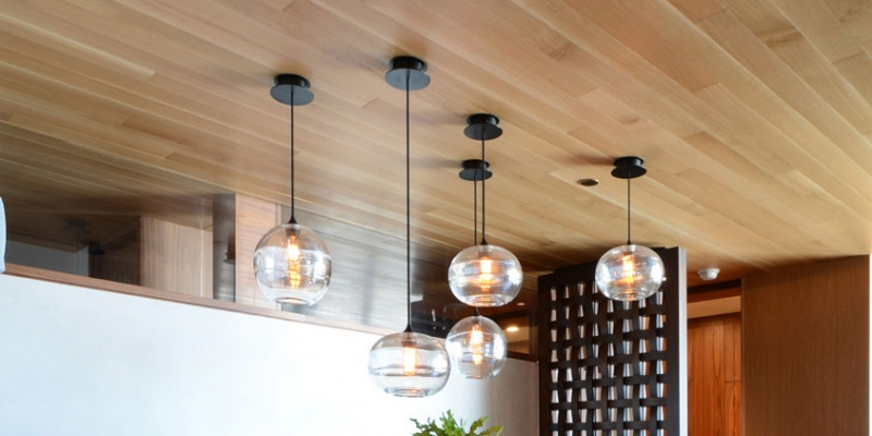 reSAWN Timber Residential North American White Oak Ceiling Cladding in Meditation