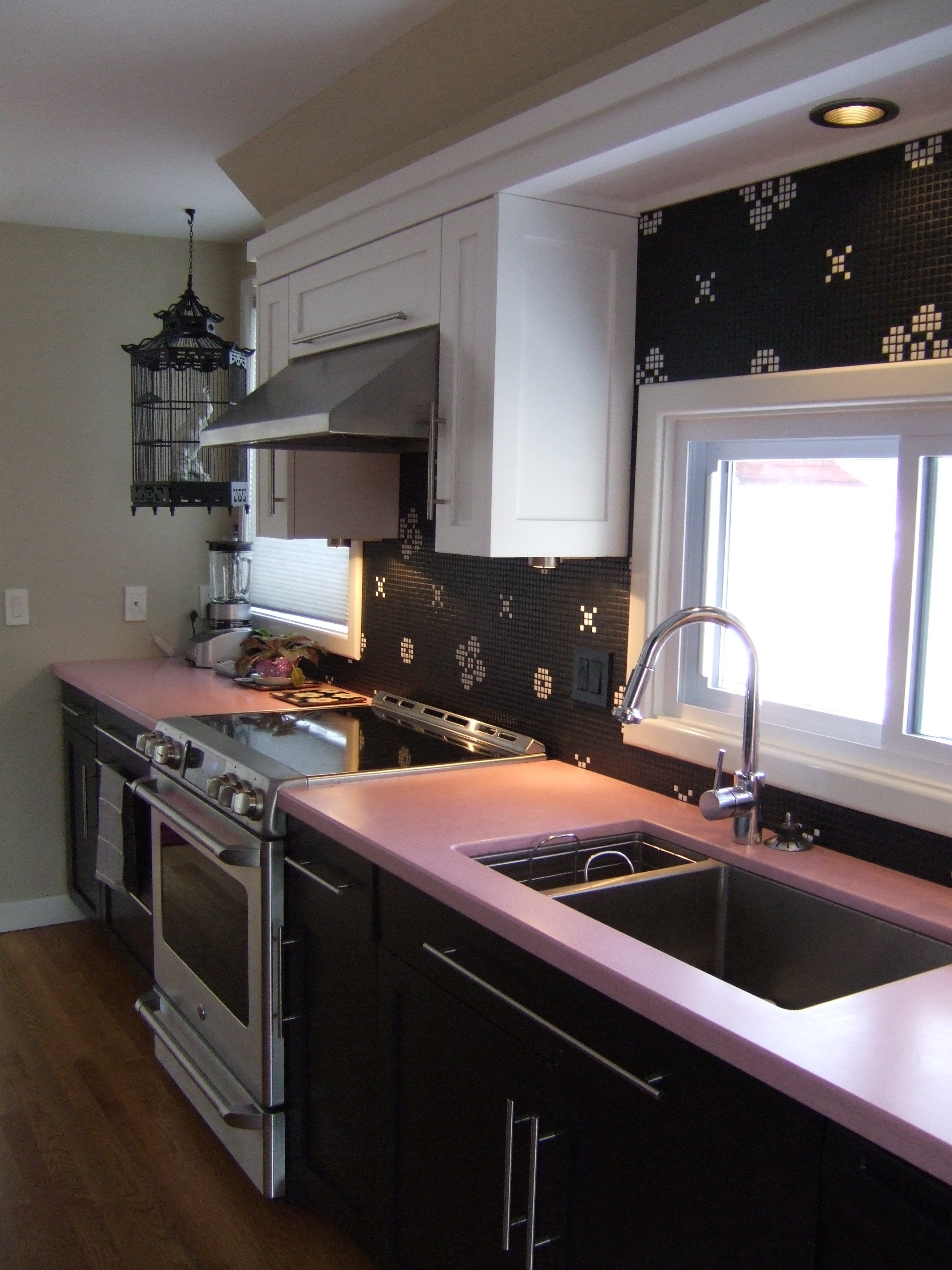 Kitchens Ideas Using Soft Pink Kitchen Modern With Set And Light Brown
