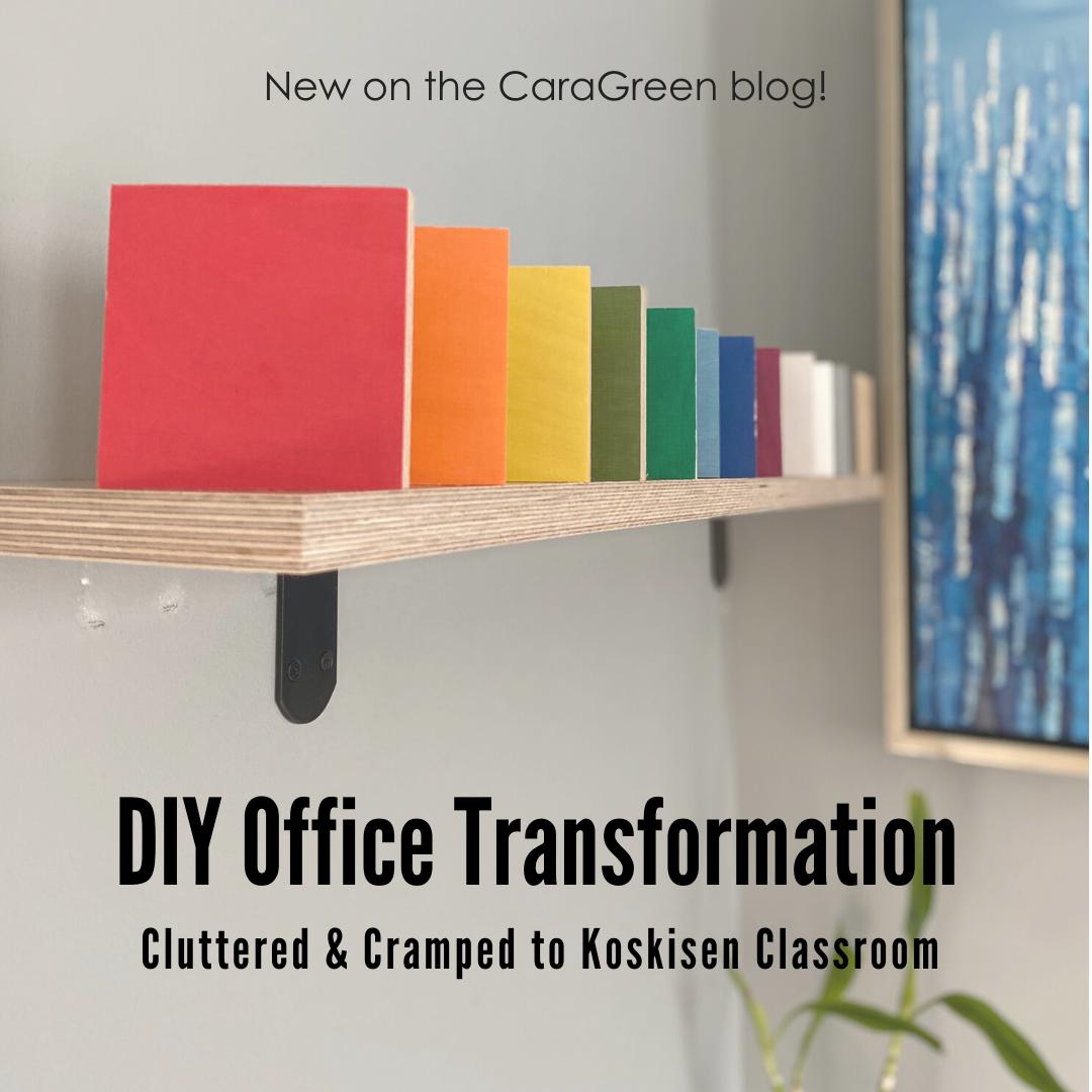 Koskisen DIY Classroom Office Transformation Before After