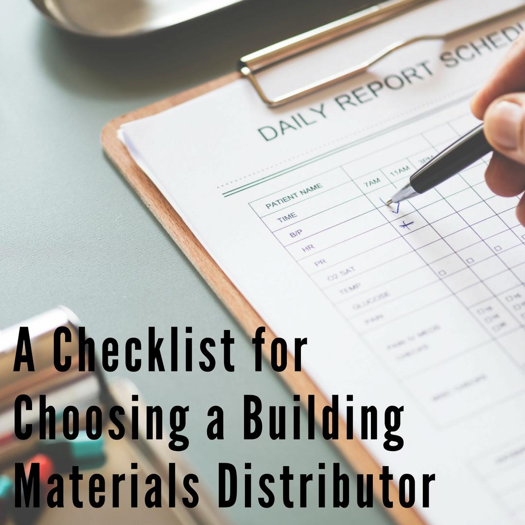 CaraGreen Checklist for Choosing Building Materials Distributor