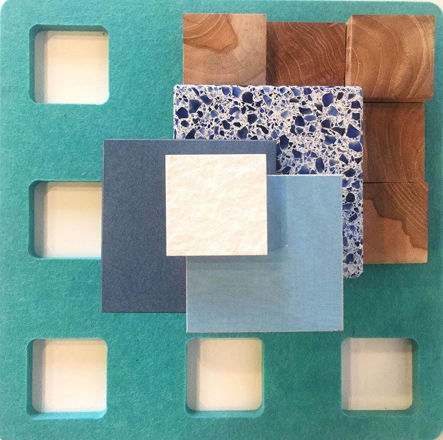 Kirei echopanel geometric tiles building for health - March Vignette Squaring Off