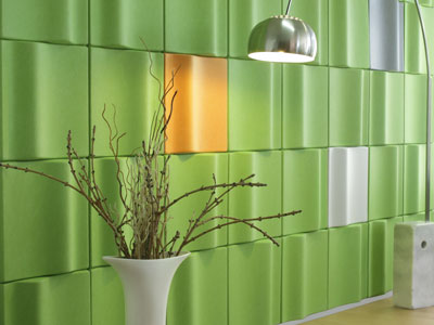 CaraGreen Kirei Mura Wave Tile in Green