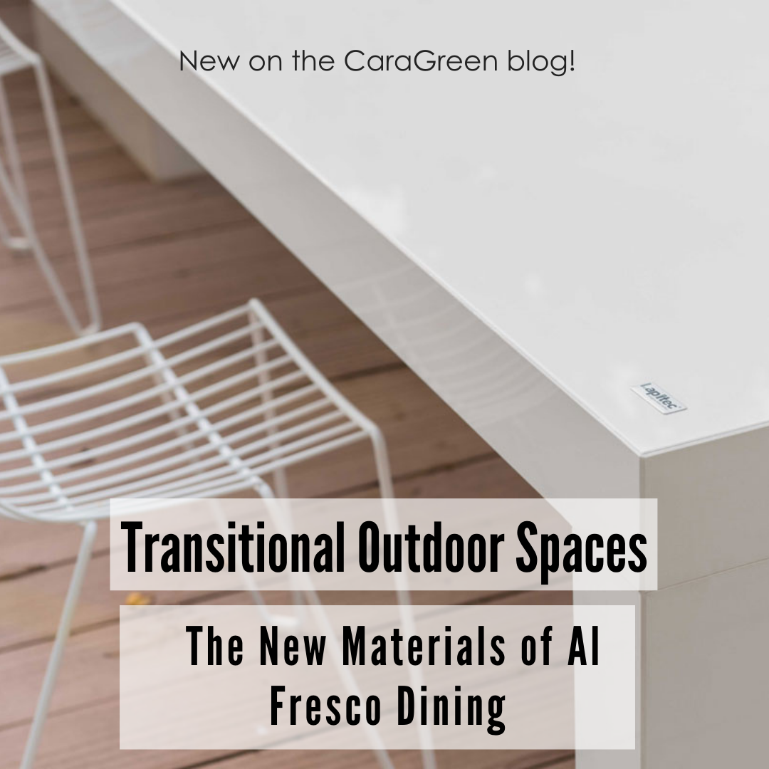 Transitional Outdoor spaces the new materials of al fresco dining