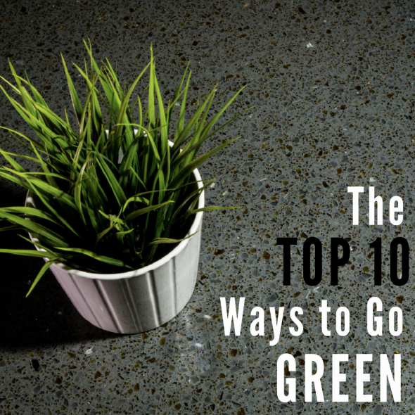 top 10 ways to go green blog